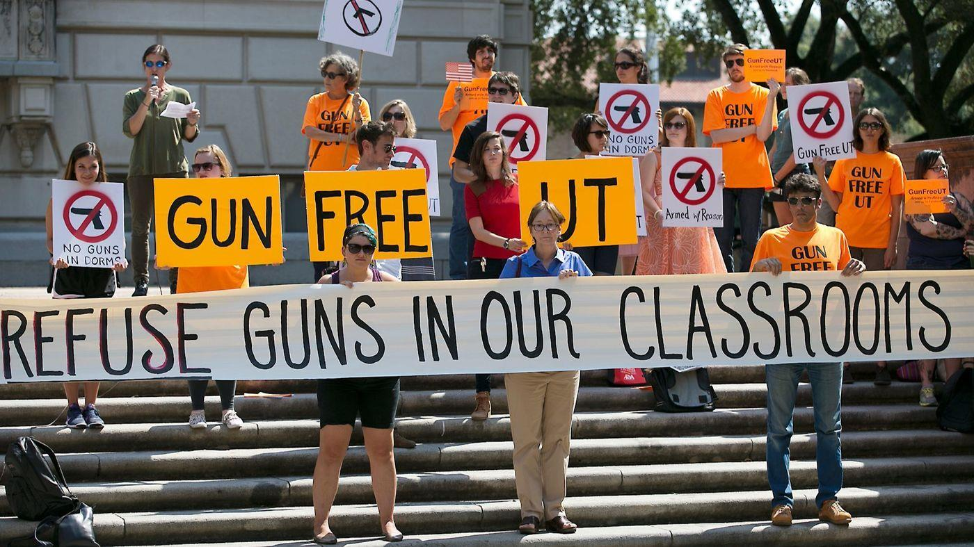 allowing college students, professors, and other college employees to carry concealed weapons on campus